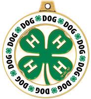 "2"" 4-H Dog Rimz Medal"