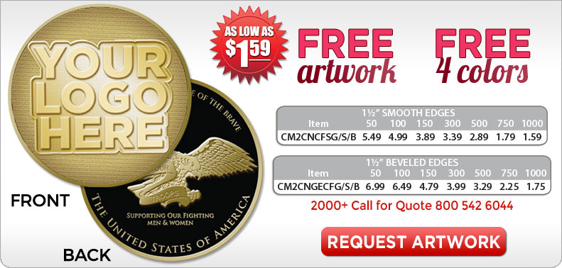 Custom Challenge Military Coins