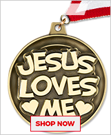 Jesus Loves Me Medal