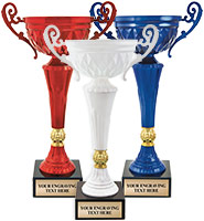 Red, White, & Blue Cup Trophies