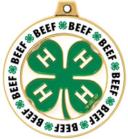 "2"" 4-H Beef Rimz Medal"