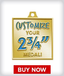 """Custom 2 ¾"""" Medal"""
