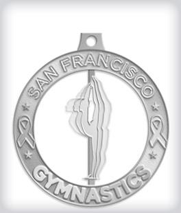 Shiny Silver Custom Spinning Medals