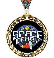 Laurel Wreath Space Derby™ Insert Medal