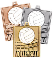"2 1/4"" Volleyball Stepz Medals"