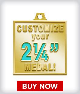 """Custom 2 ¼"""" Medal"""