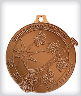Antique Bronze Custom Rowing Medals