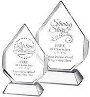 Majestic Gem Crystal Award