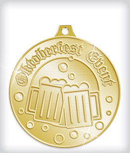Shiny Gold Custom Oktoberfest Medals