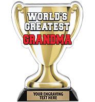 Spectrum Acrylic World's Greatest Grandma Trophy