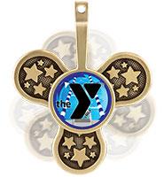 """2 1/2"""" YMCA Spinz Insert Medals"""