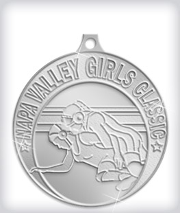 Shiny Silver Custom Wrestling Medals