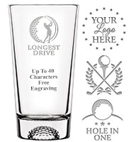 Golf Soiree Pint Glass 16oz