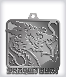 Antique Silver Custom Dragon Boat Medals