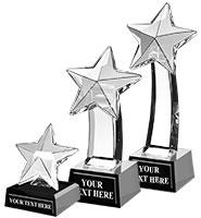 Onyx Pedestal Star Crystal Awards