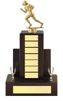 Fantasy Football Walnut Perpetual Trophy