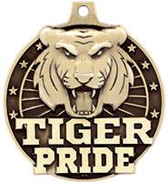 """2"""" 3D Tiger Pride Medal"""