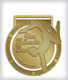 Antique Gold Custom Gymnastics Medals