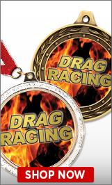 Drag Racing Medals