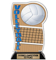 Spectrum Acrylic Volleyball Trophy