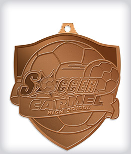 Antique Bronze Custom Soccer Medals