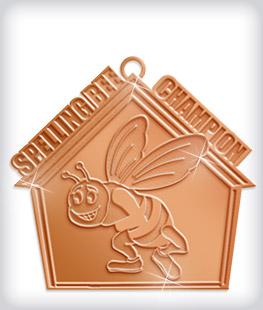 Shiny Bronze Custom Scholastic Medals