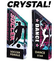 "5 1/2"" Vibrant Crystal Trophies"