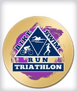Custom Printed Triathlon Pins
