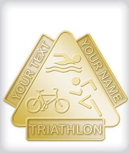 Custom No Color Triathlon Pins