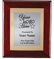 Rosewood Frame Plaque