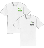 Personalized White T-Shirt With Color Logo
