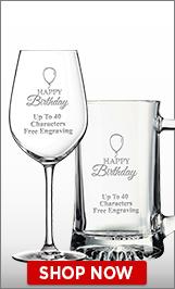 Birthday Glassware