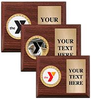 YMCA Classic Walnut Horizontal Plaque