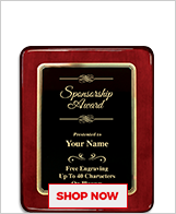 Sponsor Awards Plaque