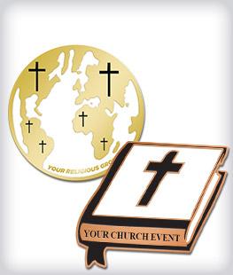 Custom Semi Cloisonne Religious Pins