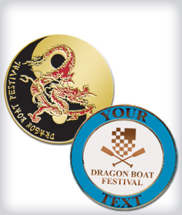 Custom Semi Cloisonne Dragon Boat Pins