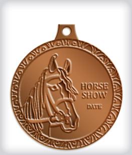Antique Bronze Custom Equestrian Medals