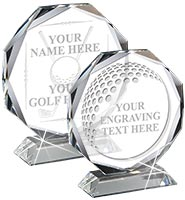 Backdrop Golf Magnitude Crystal Award