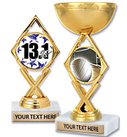 "5 3/4"" & 7 1/4"" Royale Diamond Insert Trophies"
