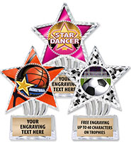 "6"" Cosmic Icicle Star Insert Trophies"