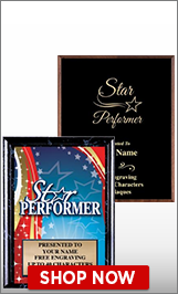 Star Performer Plaques