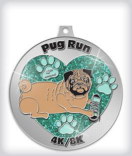 Glitter Custom Dog Medals