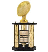 "22 1/2"" 3 Poster Fantasy Football Perpetual Trophy"