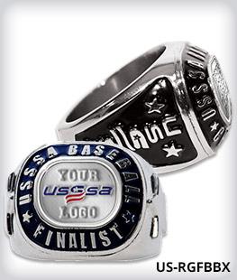 Custom USSSA Finalist Ring With Logo Side