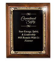 Heritage Presidential Genuine Walnut Plaques