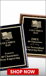 Columbus Day Plaques