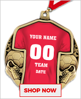 Soccer Jersey Medals