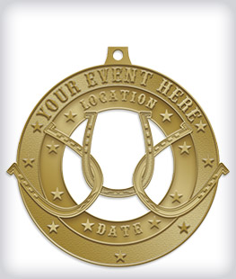 Antique Gold Custom Equestrian Medals