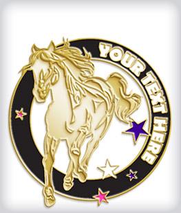 Custom Soft Enamel Equestrian Pins