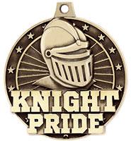 """2"""" 3D Knight Pride Medal"""